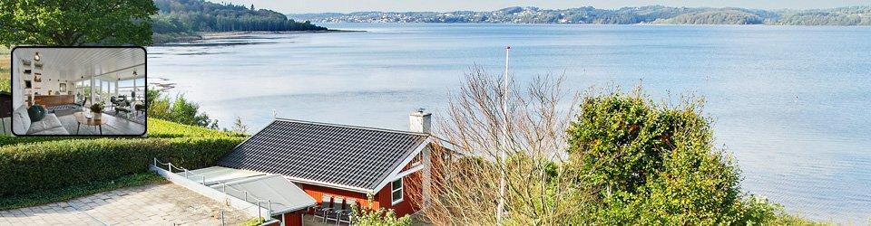 Sommerhus Vejle Fjord strandgrund